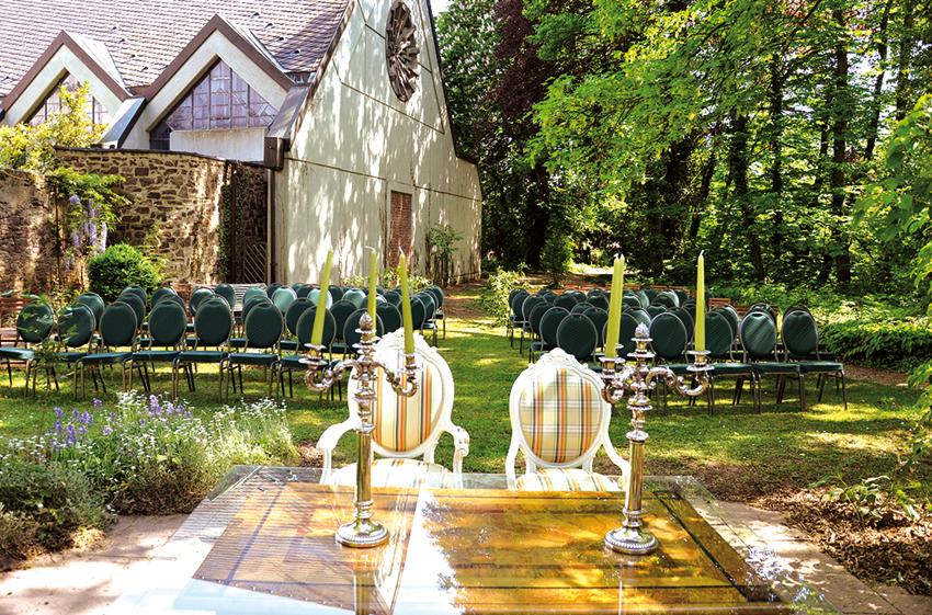 Hochzeit feiern im Burggarten